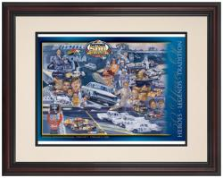 "Framed 8 1/2"" x 11"" 50th Annual 2008 Daytona 500 Program Print - Mounted Memories"