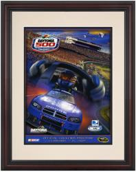 Framed 8 1/2''  x 11'' 51st Annual 2009 Daytona 500 Program Print - Mounted Memories