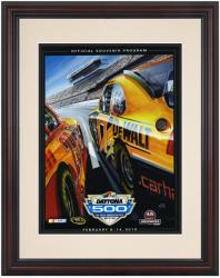 Framed 8 1/2''  x 11'' 52nd Annual 2010 Daytona 500 Program Print - Mounted Memories