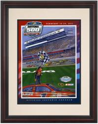 Framed 8 1/2''  x 11'' 53rd Annual 2011 Daytona 500 Program Print - Mounted Memories