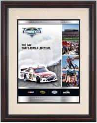 Framed 8 1/2''  x 11'' 54th Annual 2012 Daytona 500 Program Print - Mounted Memories