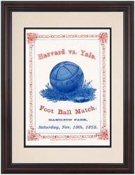 1875 Yale Bulldogs vs Harvard Crimson 8.5'' x 11'' Framed Historic Football Poster