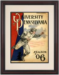 1906 Penn Quakers Season Cover 8.5'' x 11'' Framed Historic Football Poster