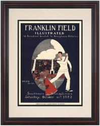 1922 Penn Quakers vs Swarthmore the Garnet 8.5'' x 11'' Framed Historic Football Poster