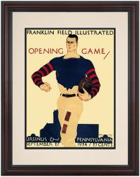1924 Penn Quakers vs Ursinus Grizzly Bear 8.5'' x 11'' Framed Historic Football Poster - Mounted Memories