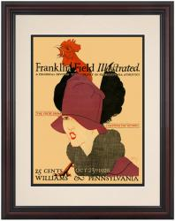 1926 Penn Quakers vs Williams Ephs 8.5'' x 11'' Framed Historic Football Poster - Mounted Memories