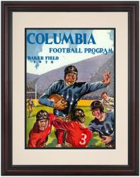 1928 Columbia Lions Season Cover 8.5'' x 11'' Framed Historic Football Poster