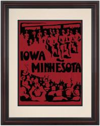 1928 Iowa Hawkeyes vs Minnesota Golden Gophers 8.5'' x 11'' Framed Historic Football Poster - Mounted Memories