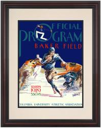 1929 Columbia Lions Season Cover 8.5'' x 11'' Framed Historic Football Poster