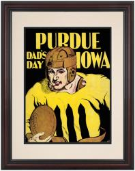 1930 Iowa Hawkeyes vs Purdue Boilermakers 8.5'' x 11'' Framed Historic Football Poster - Mounted Memories