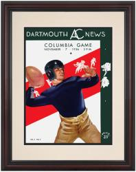 1936 Dartmouth Big Green vs Columbia Lions 8.5'' x 11'' Framed Historic Football Poster - Mounted Memories