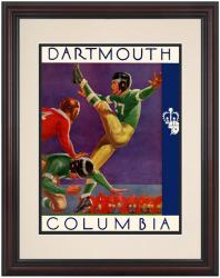 1937 Columbia Lions vs Dartmouth Big Green 8.5'' x 11'' Framed Historic Football Poster