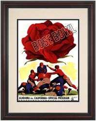 1938 California Bears vs Alabama Crimson Tide 8.5'' x 11'' Framed Historic Football Poster - Mounted Memories