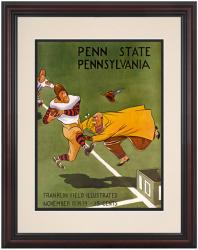 1939 Penn Quakers vs Penn State Nittany Lions 8.5'' x 11'' Framed Historic Football Poster - Mounted Memories
