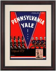 1942 Yale Bulldogs vs Penn Quakers 8.5'' x 11'' Framed Historic Football Poster - Mounted Memories
