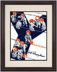 1943 Penn Quakers vs Yale Bulldogs 8.5'' x 11'' Framed Historic Football Poster