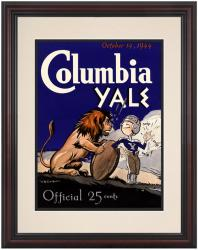 1944 Yale Bulldogs vs Columbia Lions 8.5'' x 11'' Framed Historic Football Poster - Mounted Memories