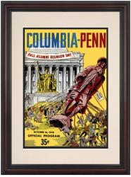 1948 Columbia Lions vs Penn Quakers 8.5'' x 11'' Framed Historic Football Poster - Mounted Memories
