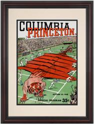 1948 Columbia Lions vs Princeton Tigers 8.5'' x 11'' Framed Historic Football Poster