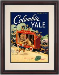 1948 Yale Bulldogs vs Columbia Lions 8.5'' x 11'' Framed Historic Football Poster - Mounted Memories