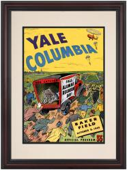 1949 Columbia Lions vs Yale Bulldogs 8.5'' x 11'' Framed Historic Football Poster