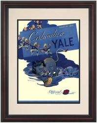 1950 Yale Bulldogs vs Columbia Lions 8.5'' x 11'' Framed Historic Football Poster - Mounted Memories