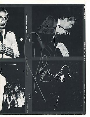 PAUL ANKA HAND SIGNED 16x19 POSTER+COA        MANY GREAT IMAGES    MUSIC LEGEND