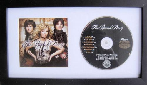 The Band Perry Signed If I Die Young Cd Framed JSA