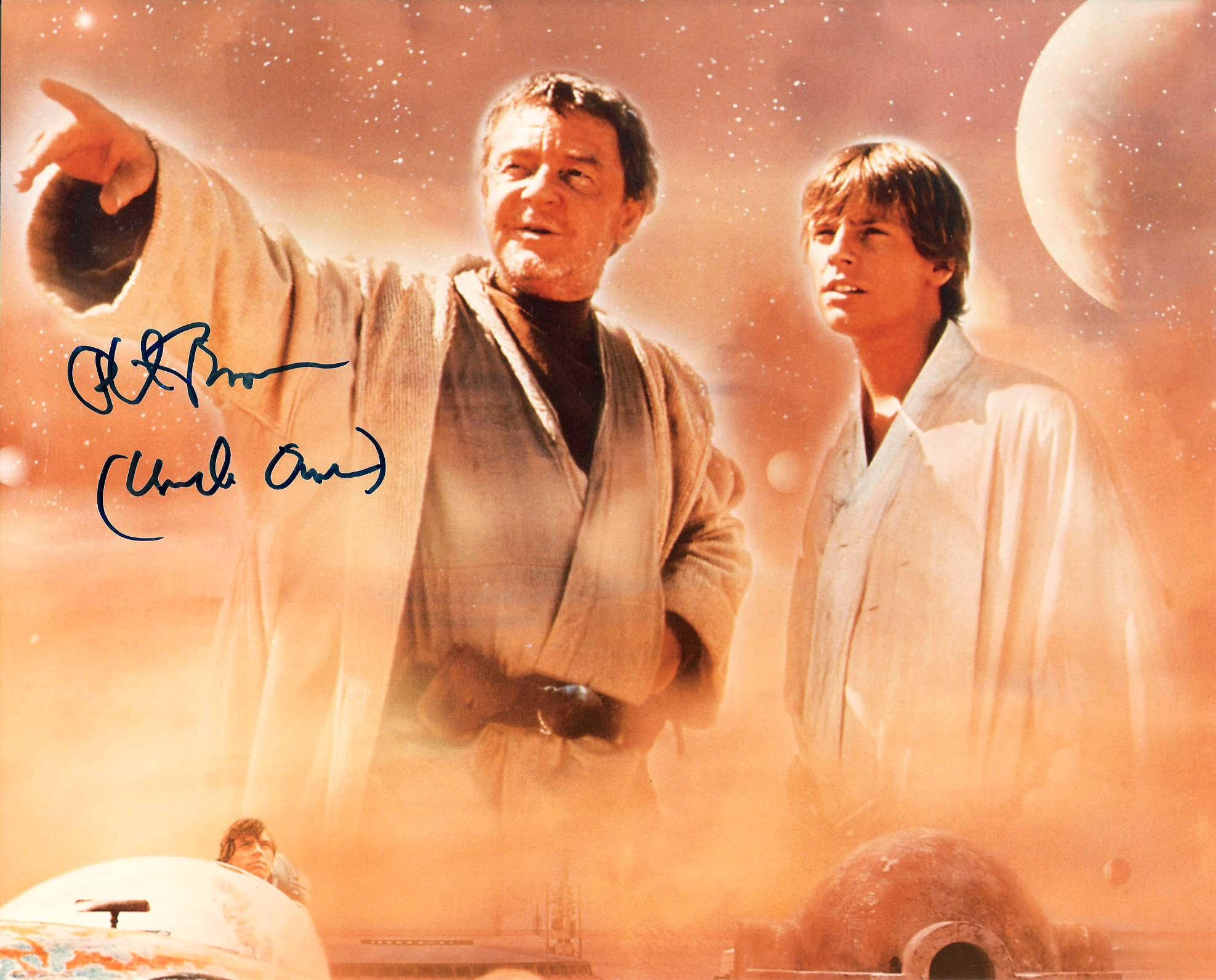 """PHIL BROWN """"STAR WARS"""" as UNCLE OWEN LARS Signed 10x8 Color Photo"""