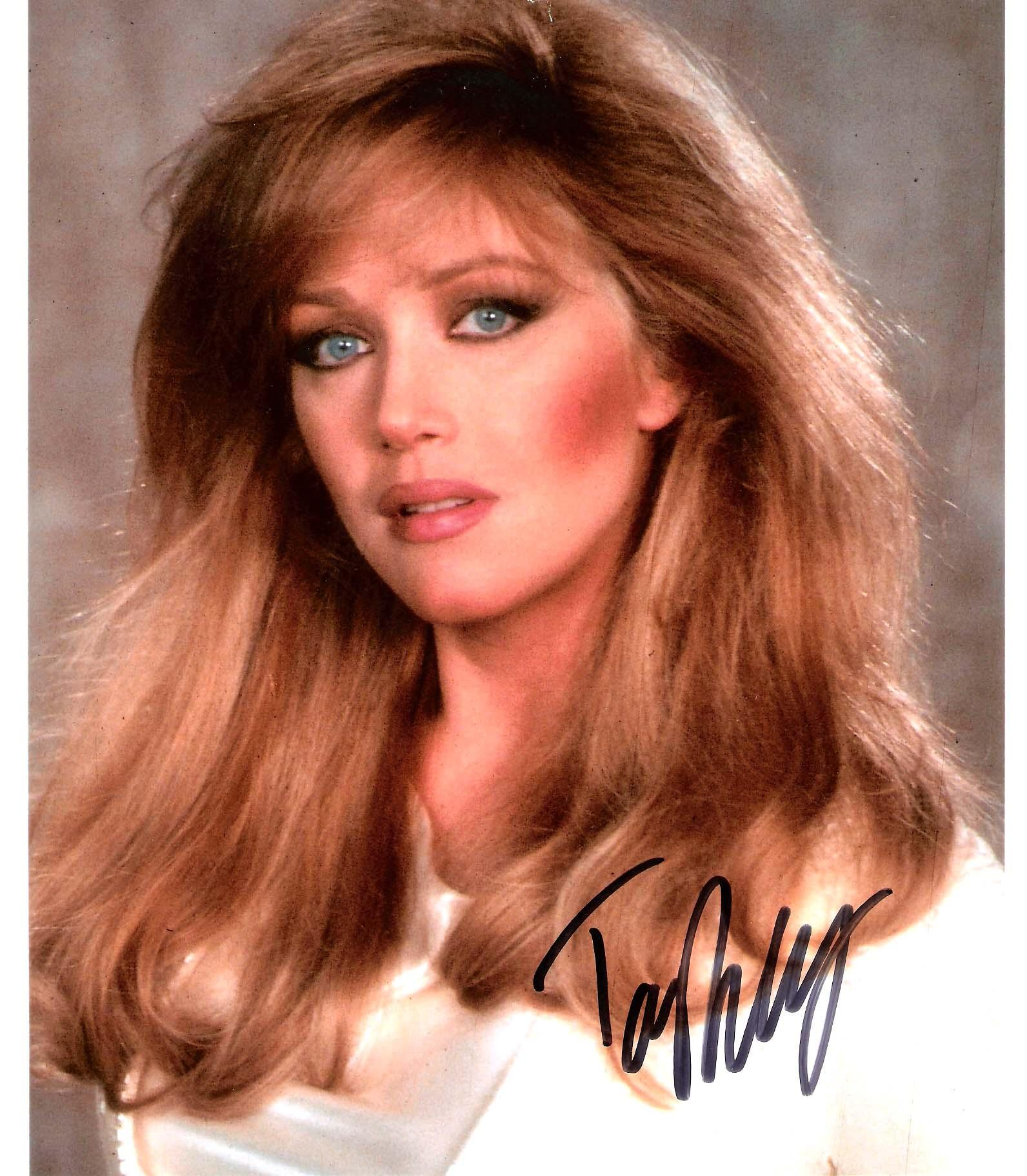 "TANYA ROBERTS (ACTRESS) Best Known foe her Role as JULIE ROGERS on ""CHARLIES ANGELS"" Signed 8x10 Color Photo"