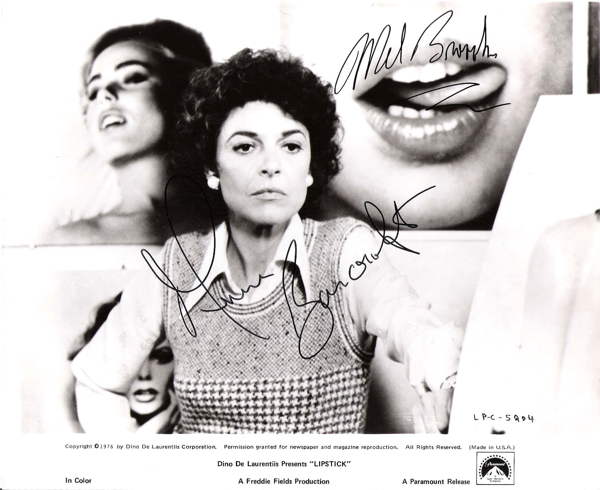 Mel Brooks Ann Bancroft Lipstick Mel And Ann Was