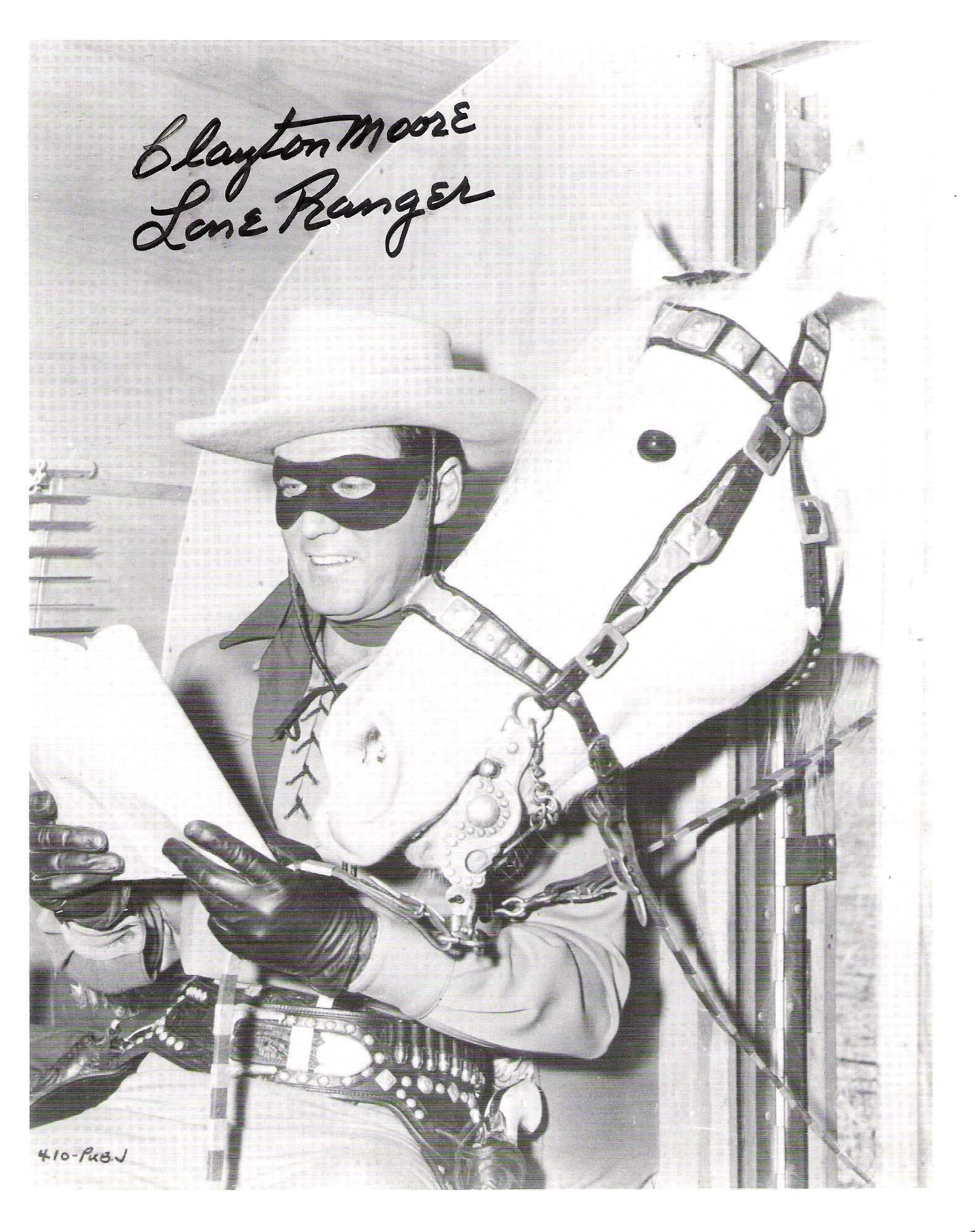 """Moore Autographed Picture - with """"THE LONE RANGER"""" Inscription"""