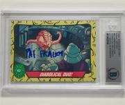 '89 Topps Teenage Mutant Ninja Turtles PAT FRALEY signed Krang TMNT card BAS BGS