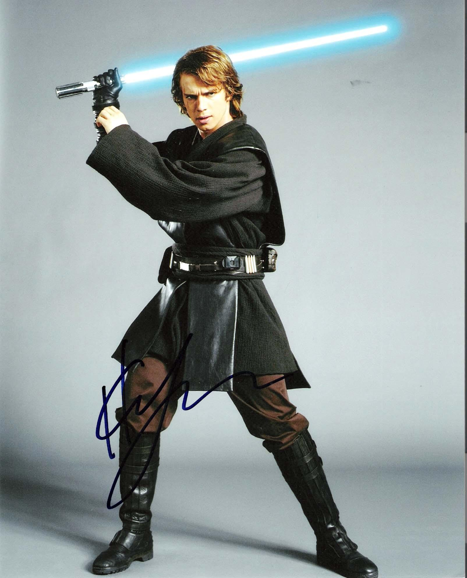 "HAYDEN CHRISTENSEN ""STAR WARS EPISODE 2 & 3"" as ANAKIN SKYWALKER/DARTH VADER Signed 8x10 Color Photo"