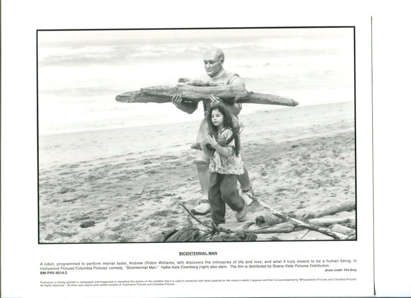Robin Williams Hallie Kate Eisenberg Bicentennial Man Press Still Movie  Photo