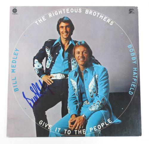Bill Medley Signed  Album COVER ONLY The Righteous Brothers w/ AUTO