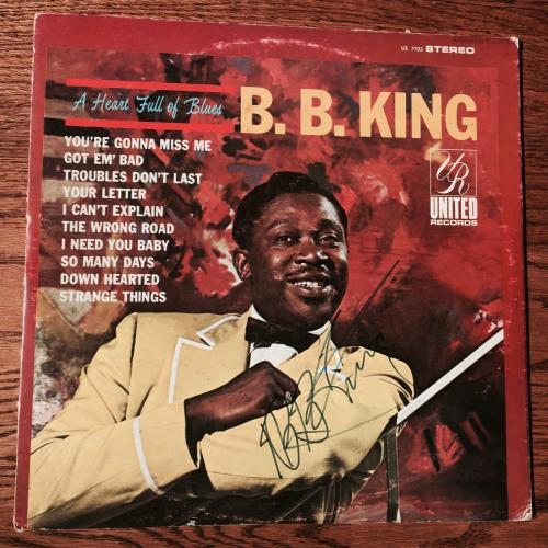 B.B. King Signed Album A Heart Full Of Blues PSA DNA Full Letter COA
