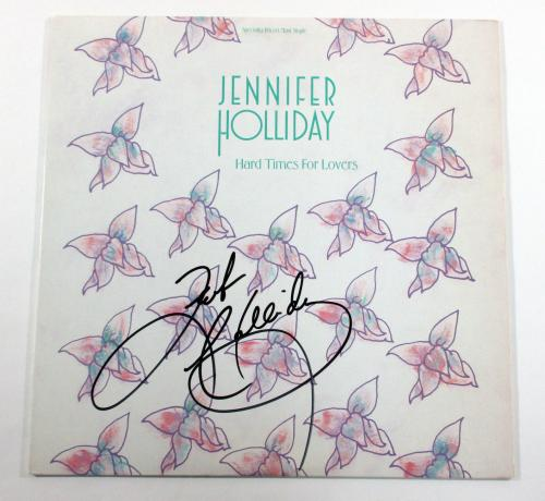 Jennifer Holiday Signed Maxi-Single Record Album Hard Times for Lovers w/ AUTO