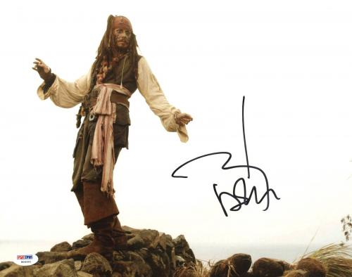 Johnny Depp Signed 11X14 Photo w/ Graded 10 Autograph! PSA/DNA #W04461