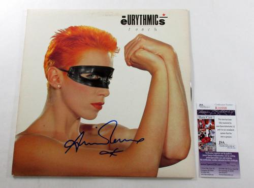 Annie Lenox Signed LP Record Album Eurythmics Touch w/ JSA AUTO