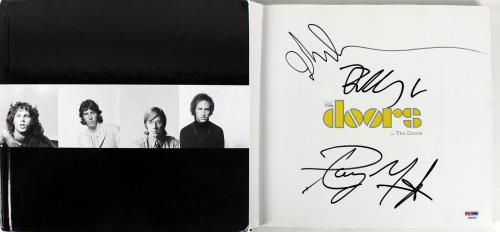 The Doors (John Densmore, Robbie Krieger, Ray Manzarek) Signed Book PSA #AB03349