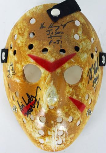 Hodder, White, Kirzinger & Lehman Signed Friday The 13th Jason Mask JSA 5