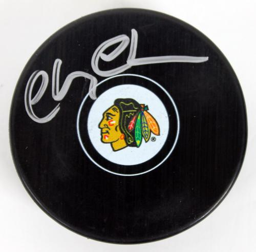 Chevy Chase National Lampoon's Christmas Vacation Signed Blackhawks Puck PSA ITP