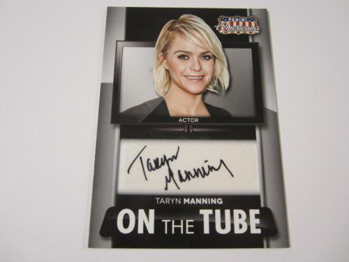 TARYN MANNING 2015 Panini Americana On The Tube AUTO Autograph card