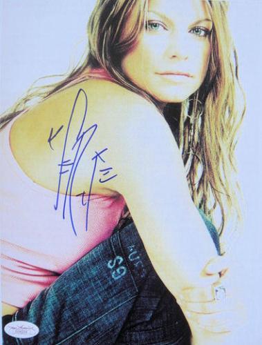 Fergie Stacy Ferguson Signed SEXY Black Eyed Peas 8x10 Photo JSA