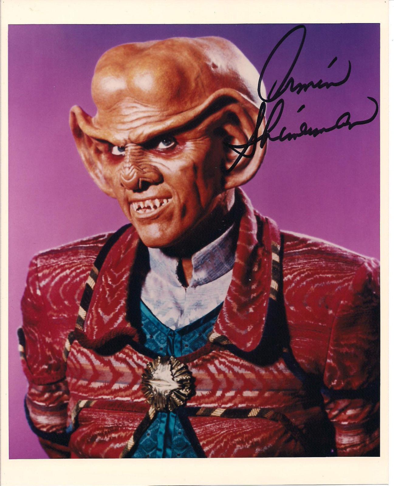 "Armin Shimernan ""quark"" Star Trek Autographed Signed 8x10 Photo W/coa"