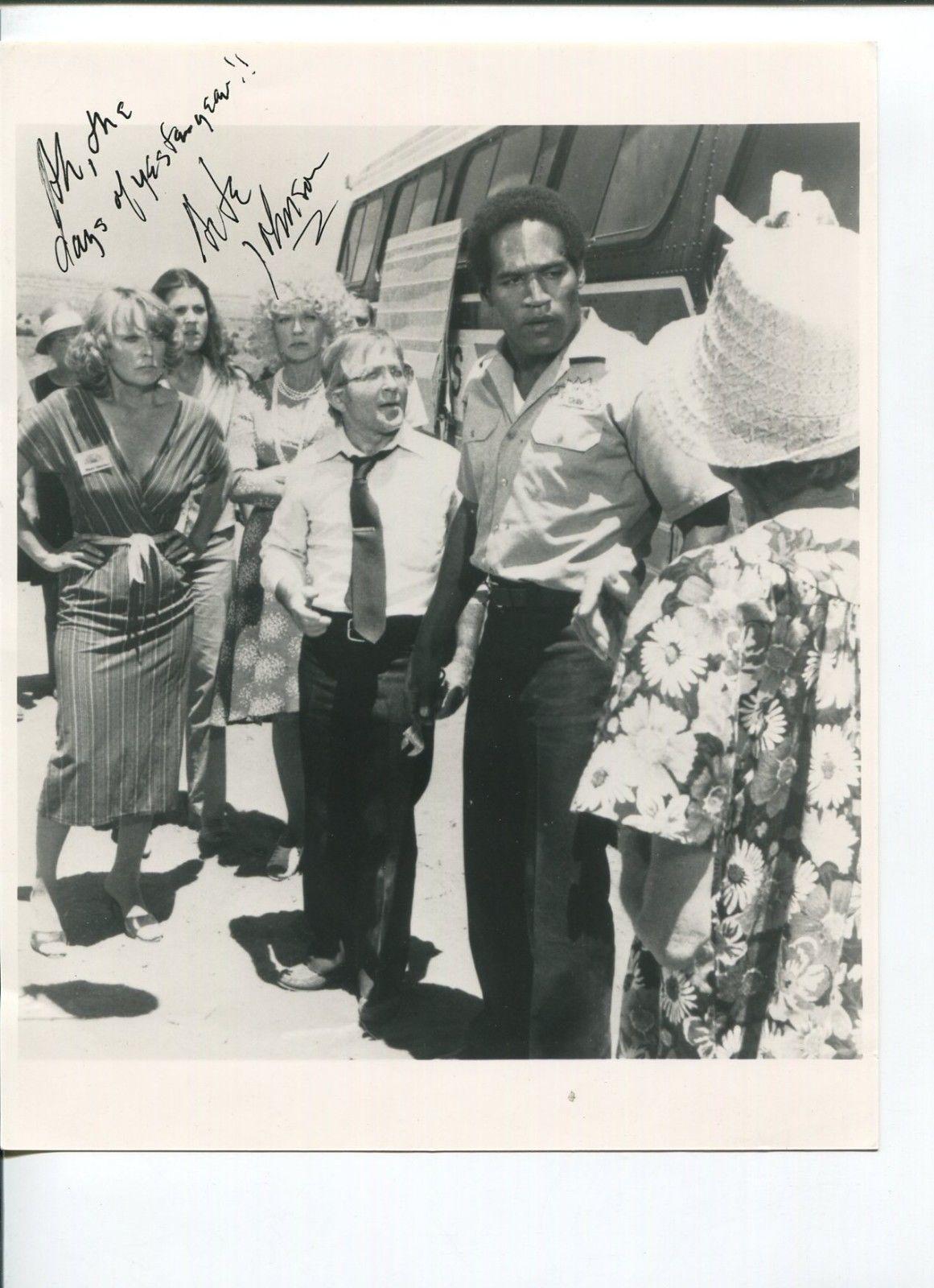 Signed O.J. Simpson Photograph - Arte Johnson Detour to Terror Original Press W