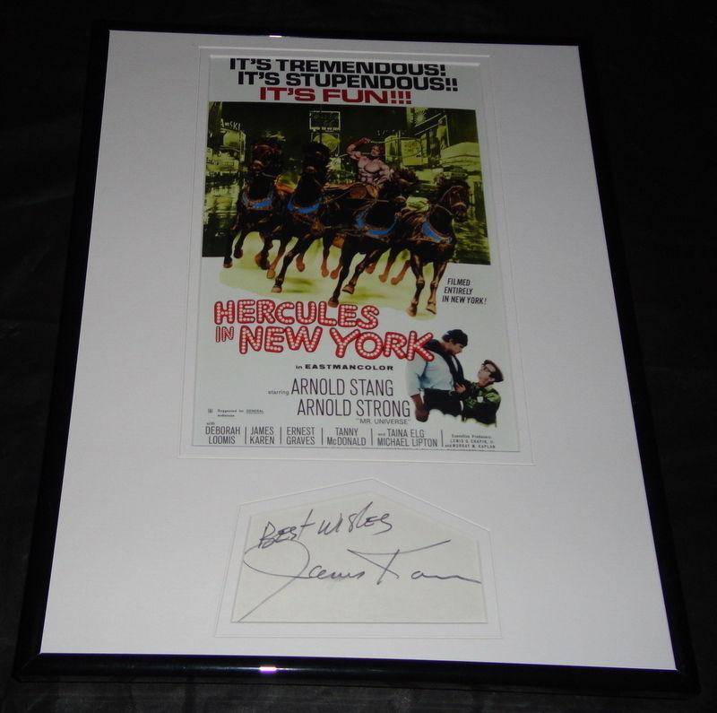 James Karen Signed Framed 11x14 Photo Display Hercules in New York