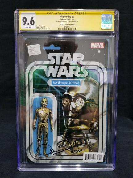 9.6 CGC (Yellow Label) '15 Marvel Star Wars #5 - Signed by Anthony Daniels