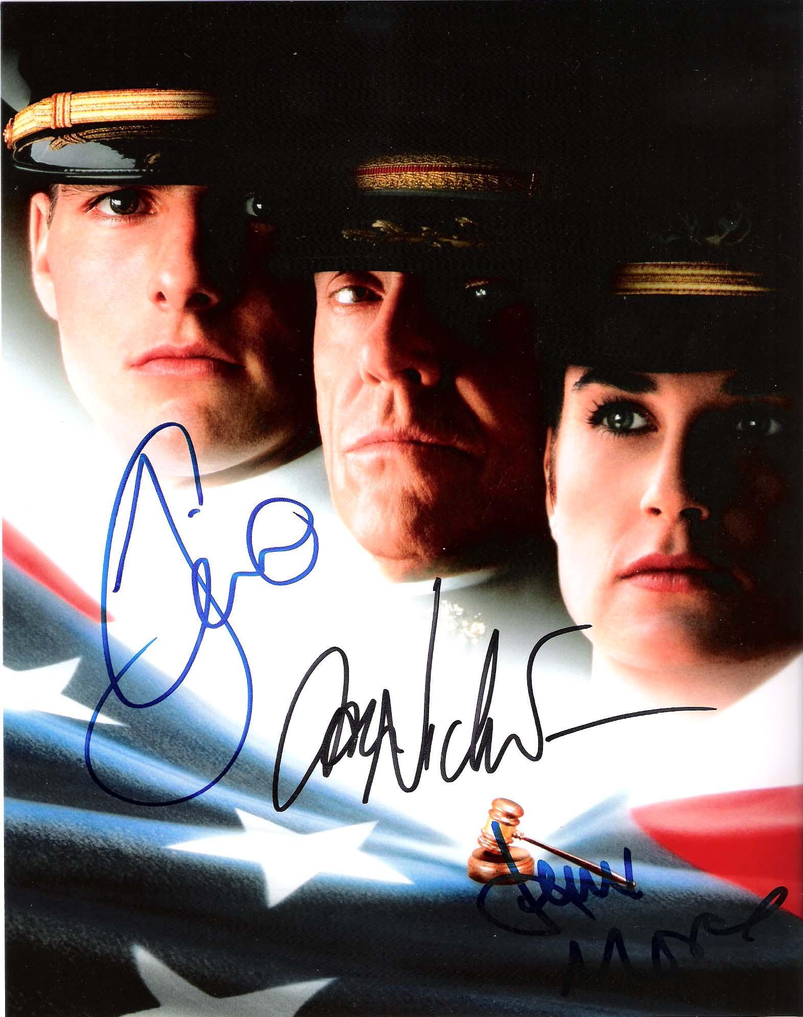 "Moore Autographed Picture - with ""A FEW GOOG MEN"" Inscription"